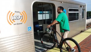 WHEELING YOUR BIKE ON TO METRORAIL