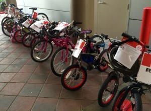 Bicycles in the breezeway